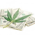 Pile of money with marijuana leaf: Smokedistrict Cannabis Blog